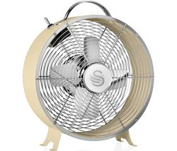 "Retro SFA12630CN Portable 8"" Desk Fan - Cream"