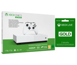 MICROSOFT Xbox One S All-Digital Edition with Minecraft, Forza Horizon 3, Sea of Thieves & Xbox LIVE Gold Subscription