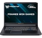 £1299, ACER Predator Helios 300 17.3inch Intel® Core™ i5 RTX 2060 Gaming Laptop - 512 GB SSD, Intel® Core™ i5-9300H Processor, RAM: 8GB / Storage: 512GB SSD, Graphics: NVIDIA GeForce RTX 2060 6GB, Full HD display / 144 Hz, Battery life:Up to 6 hours,