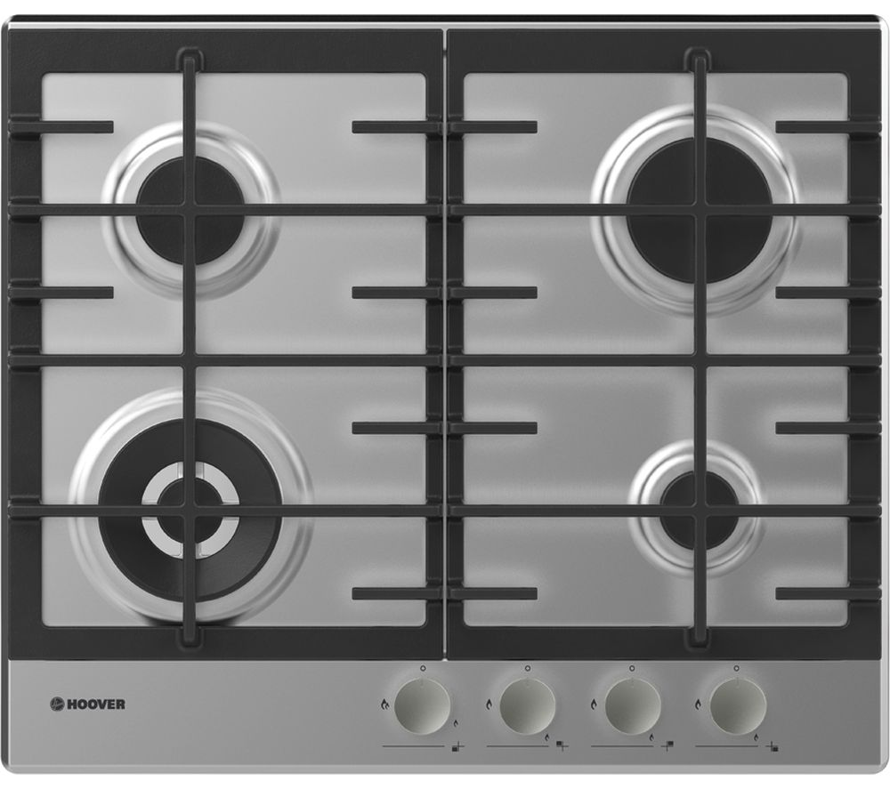 HOOVER HHG6BF4MX Gas Hob - Stainless Steel