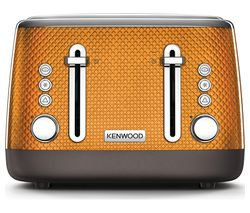 KENWOOD Mesmerine TFM810OR 4-Slice Toaster - Orange
