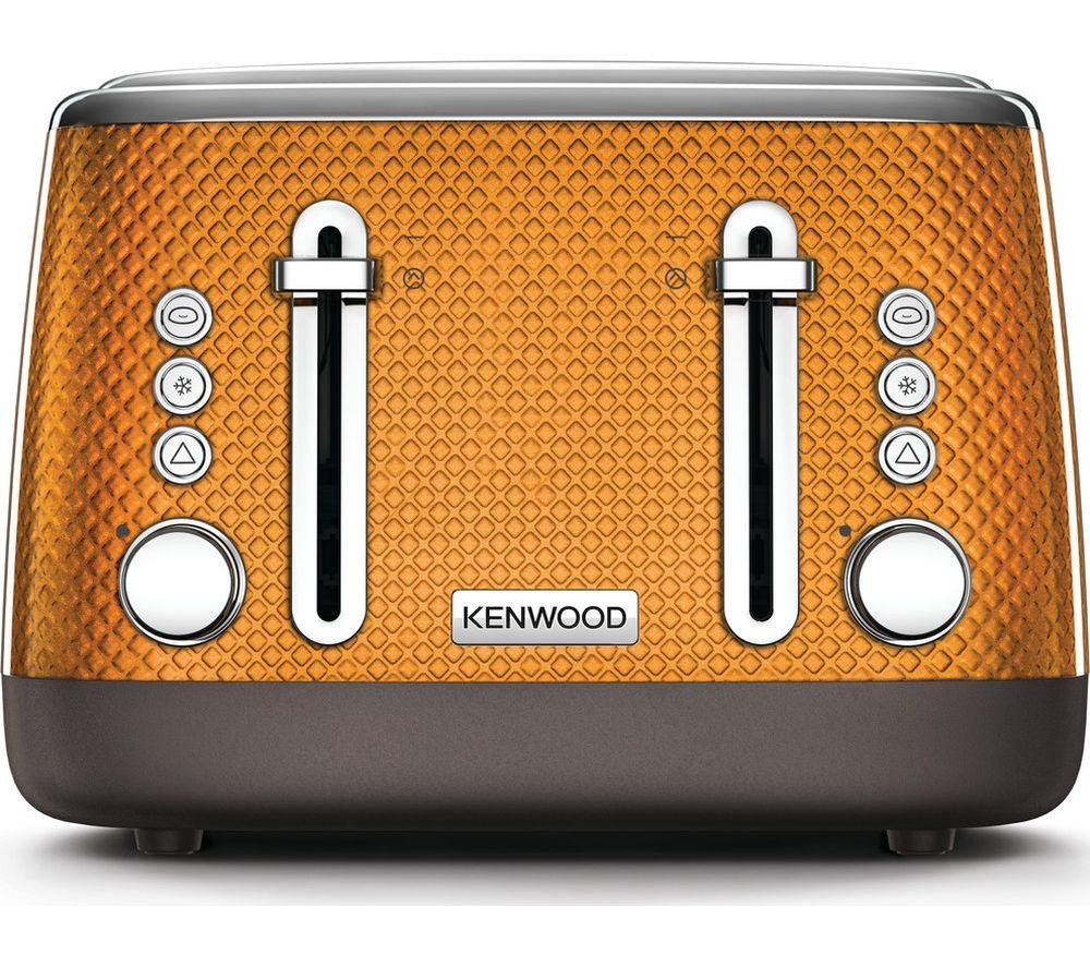 KENWOOD Mesmerine TFM810OR 4-Slice Toaster - Orange