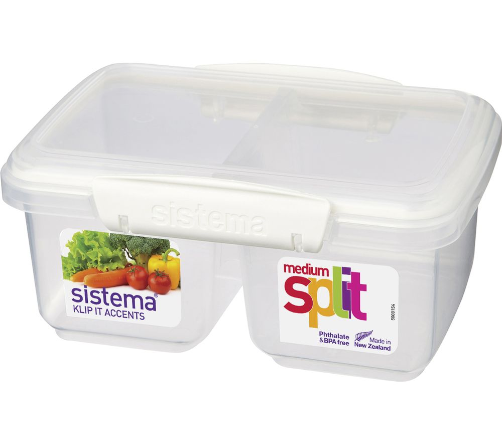SISTEMA Split Accents 1-litre Food Storage Container