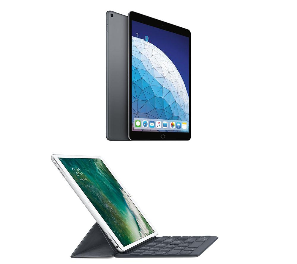 "Image of 10.5"" iPad Air (2019) & Smart Keyboard Folio Case Bundle - 64 GB, Space Grey, Grey"