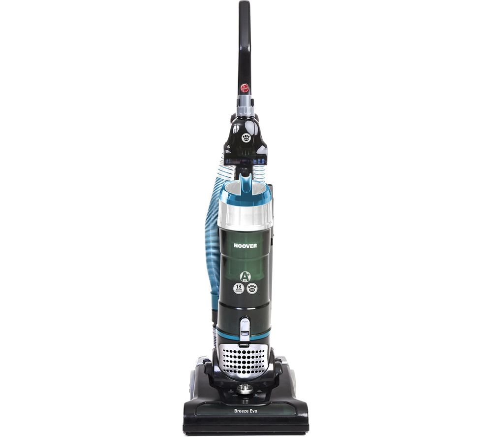 HOOVER Breeze Evo Pets TH31BO02 Upright Bagless Vacuum Cleaner - Black & Turquoise