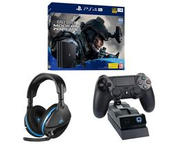SONY PlayStation 4 Pro with Call of Duty: Modern Warfare, Stealth 600 Wireless Gaming Headset & Twin Docking Station Bundle