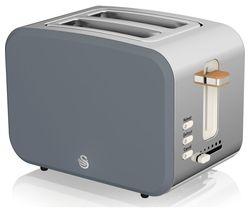 Nordic ST14610GRYN 2-Slice Toaster - Grey