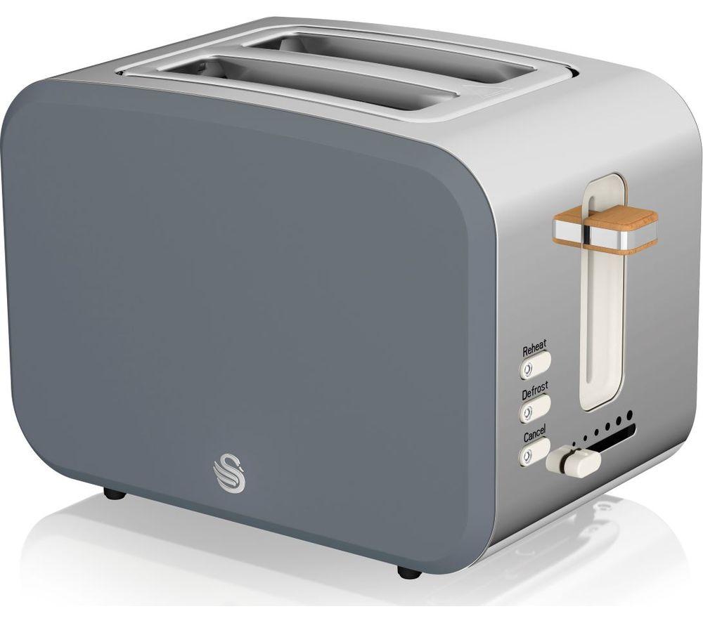 Nordic ST14610GRYN 2-Slice Toaster - Grey, Grey