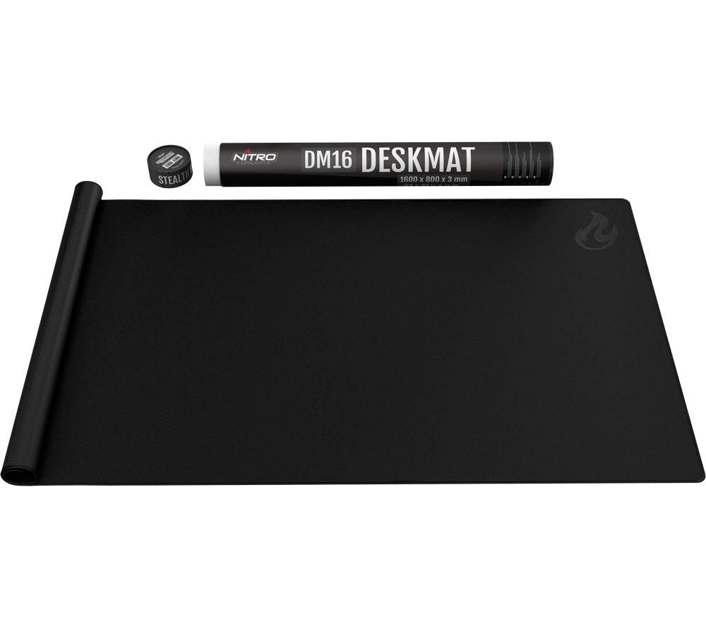 Image of NITRO CONCEPTS DM16 Deskmat Gaming Surface, 1600 x 800 mm - Black, Black
