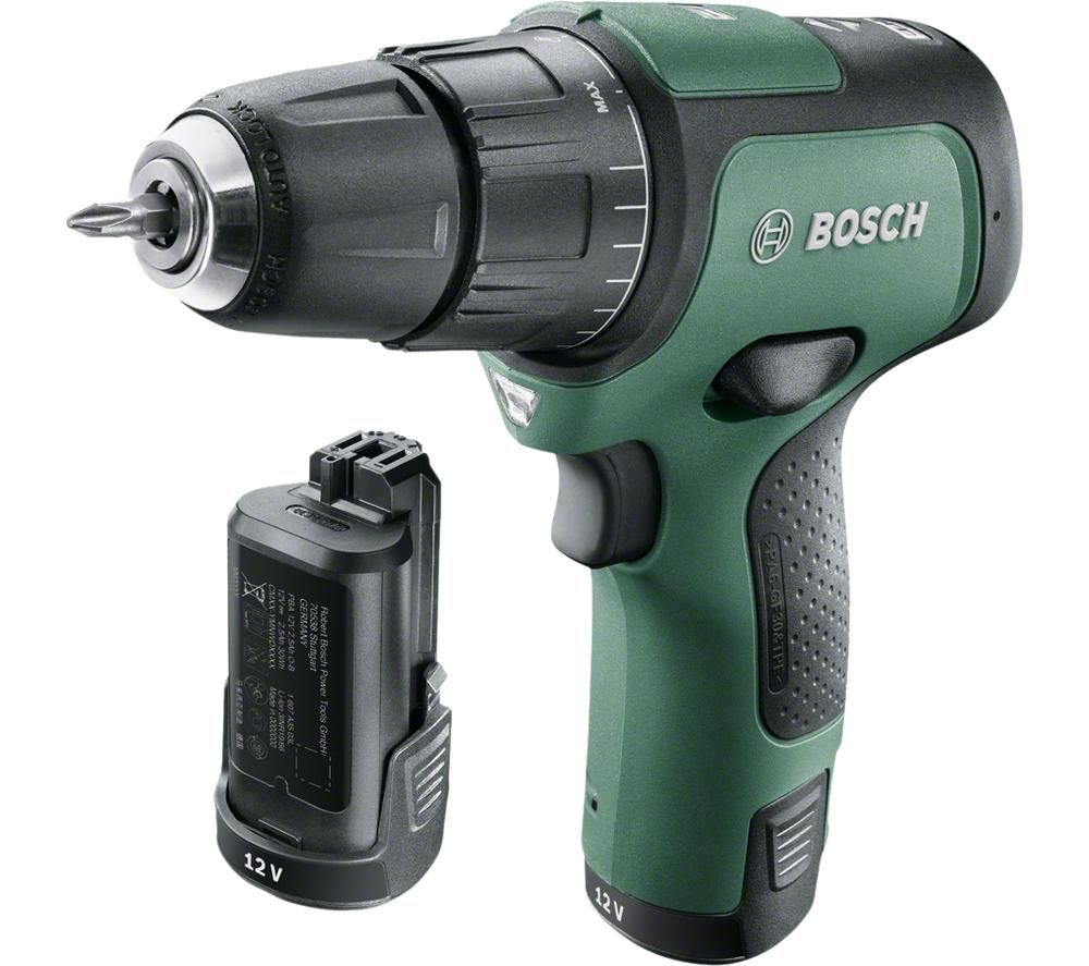 BOSCH EasyImpact 12 Cordless Combi Drill with 2 Batteries