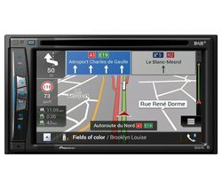 PIONEER AVIC-Z720DAB Smart Bluetooth Car Radio with Sat Nav - Black, Full Europe Maps
