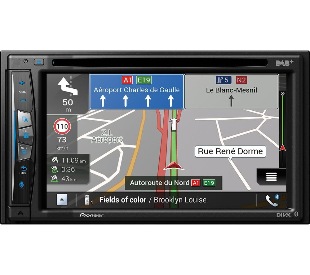 Image of AVIC-Z720DAB Smart Bluetooth Car Radio with Sat Nav - Black, Full Europe Maps, Black