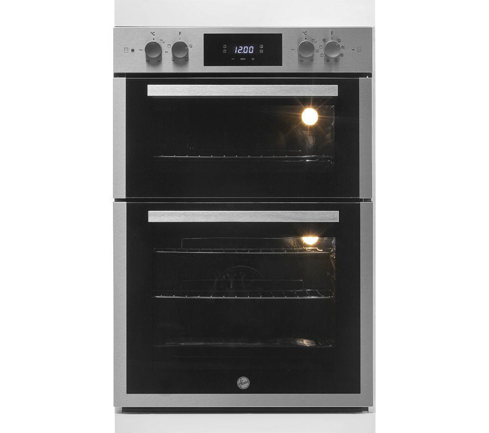 Image of HOOVER H-OVEN 300 HO9DC3E3078IN Electric Double Oven - Stainless Steel, Stainless Steel