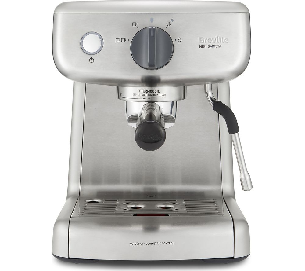 BREVILLE VCF125 Mini Barista Coffee Machine - Stainless Steel
