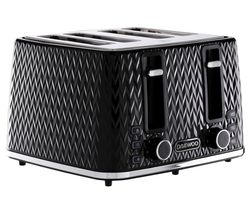 Argyle Collection SDA1863 4-Slice Toaster - Black