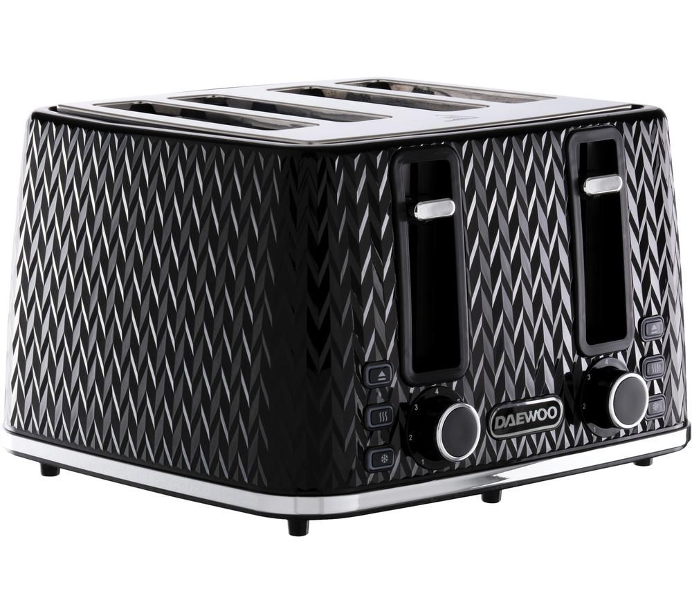 DAEWOO Argyle Collection SDA1863 4-Slice Toaster - Black
