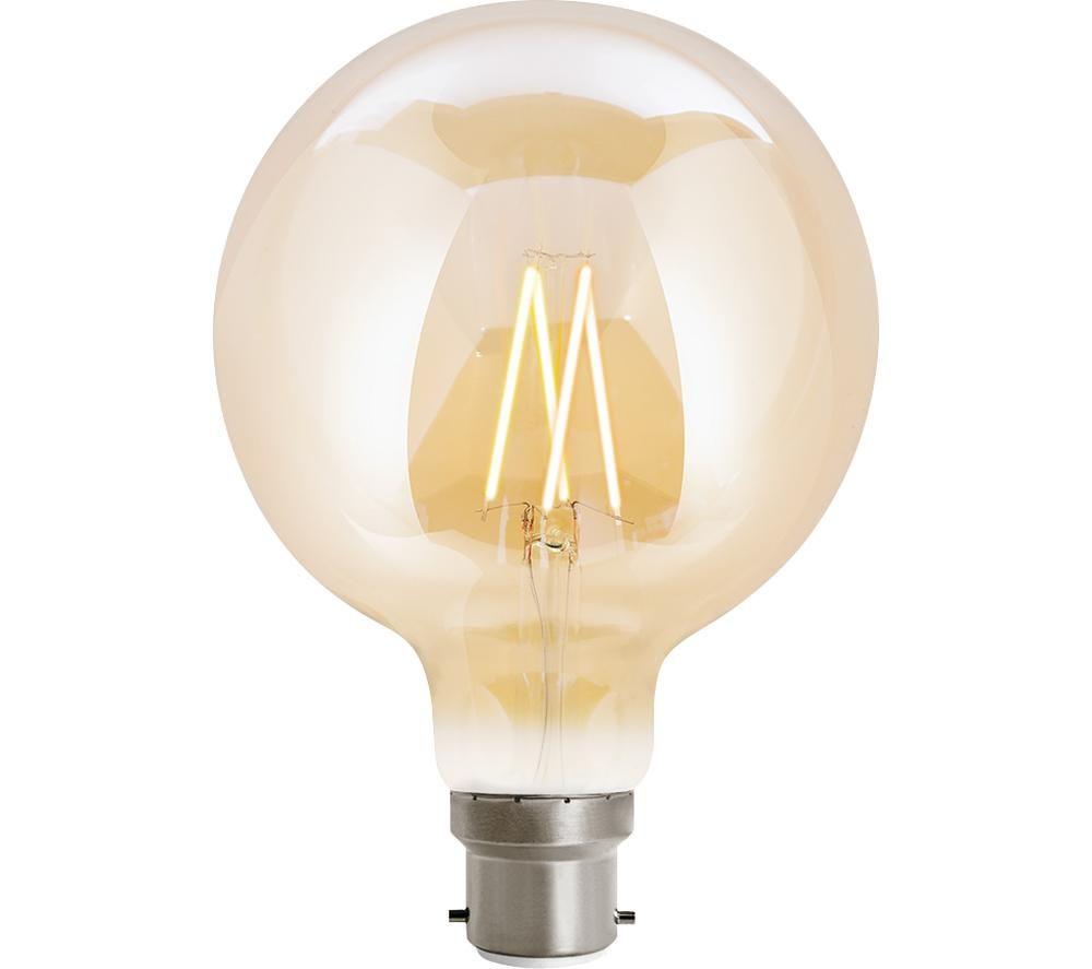 WIZ CONNEC Whites Filament Smart LED Light Bulb - B22, Warm White
