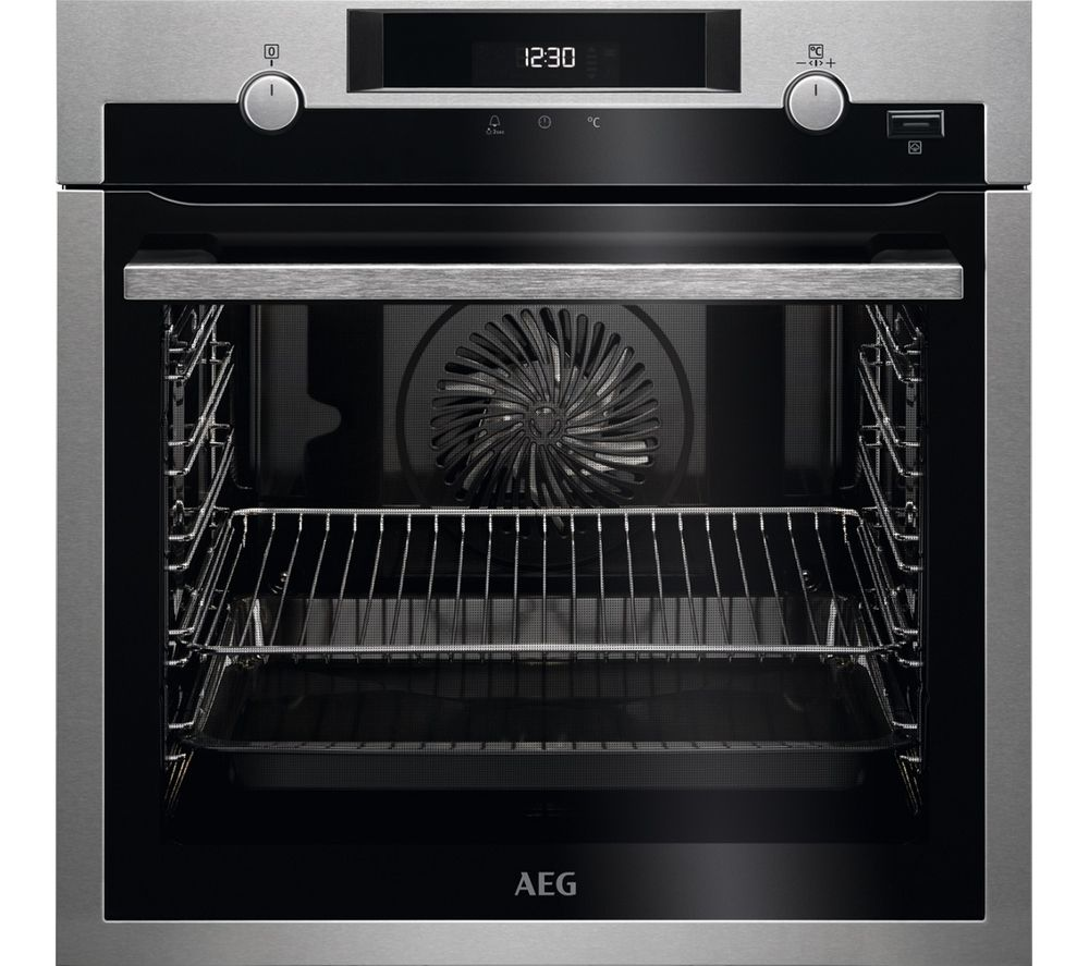 AEG SteamBake BPS555020M Electric Steam Oven - Stainless Steel & Black
