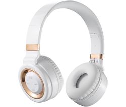Lunar Series VK-2004-WTGD Wireless Bluetooth Headphones - White & Gold