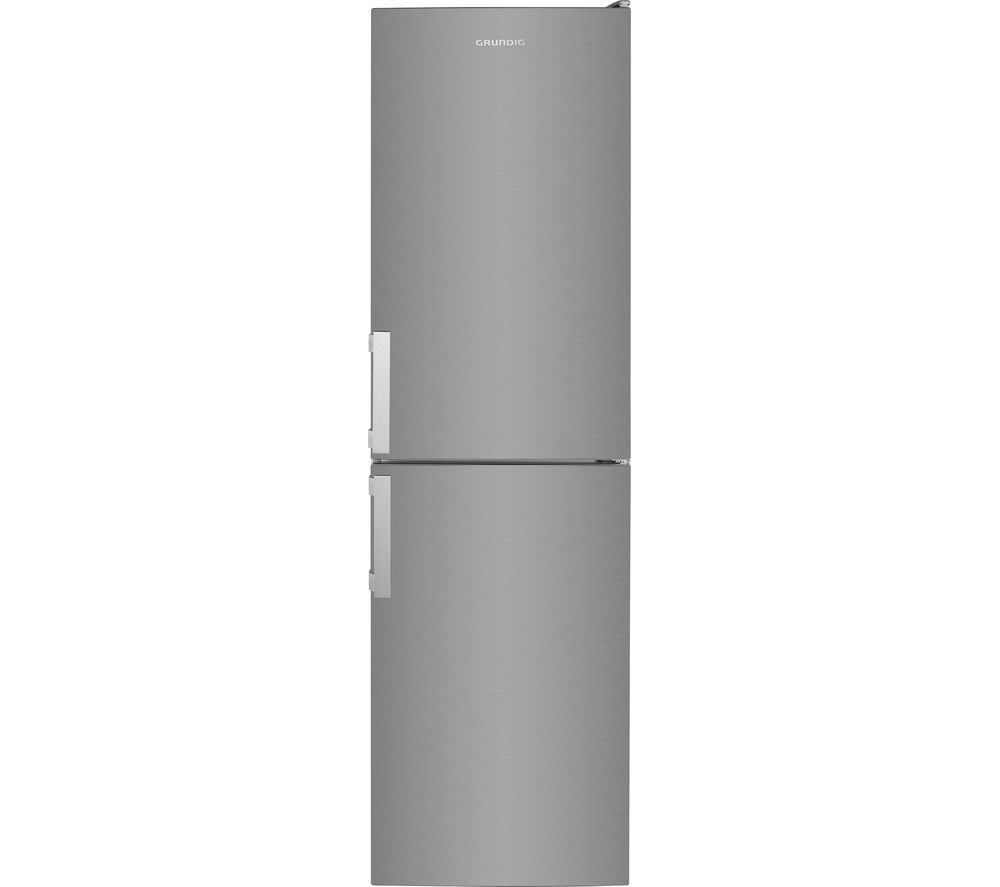 GRUNDIG GKF35810N 50/50 Fridge Freezer - Brushed Steel, Brushed Steel
