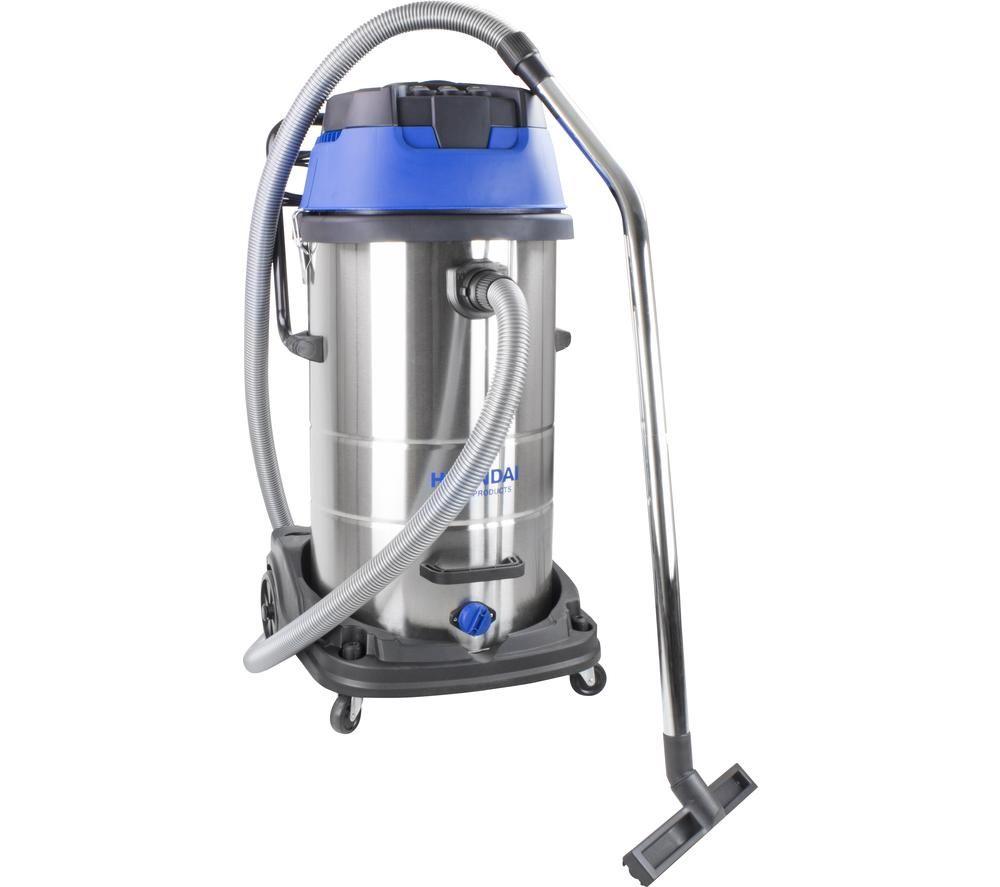 HYUNDAI HYVI10030 Cylinder Wet & Dry Vacuum Cleaner - Silver & Blue