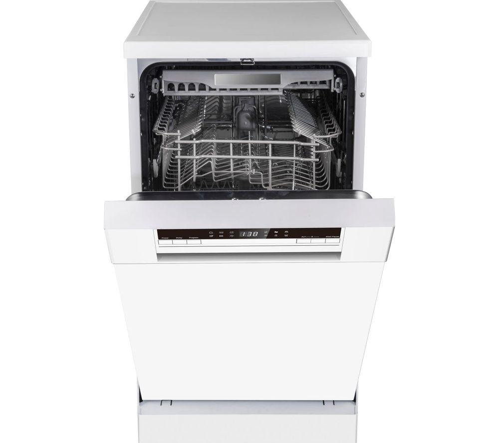 HISENSE HS520E40WUK Slimline Dishwasher - White, White