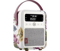 Monty Portable DAB+/FM Bluetooth Radio - Joules Cambridge Floral Cream