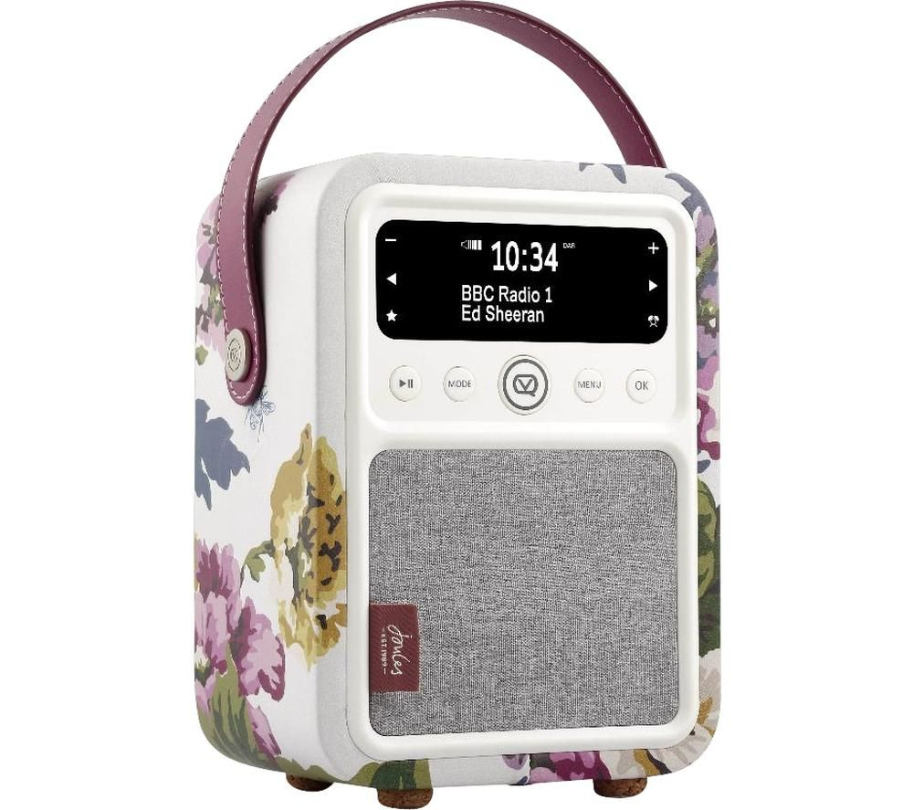 Image of VQ Monty Portable DABﱓ Bluetooth Radio - Joules Cambridge Floral Cream, Cream