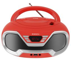 CD200 FM Bluetooth Boombox - Red