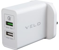 Super-Fast VH30CW 2-port USB Wall Charger
