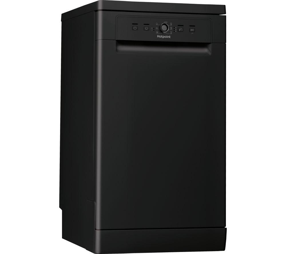 HOTPOINT HSFE 1B19 B UK N Slimline Dishwasher - Black