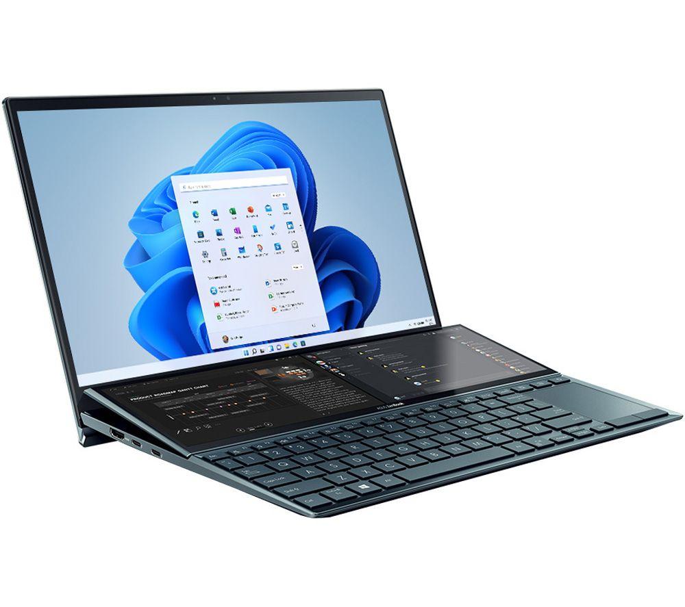 "Image of ASUS ZenBook Duo UX482EG 14"" Laptop - Intel®Core™ i7, 1 TB SSD, Blue, Blue"