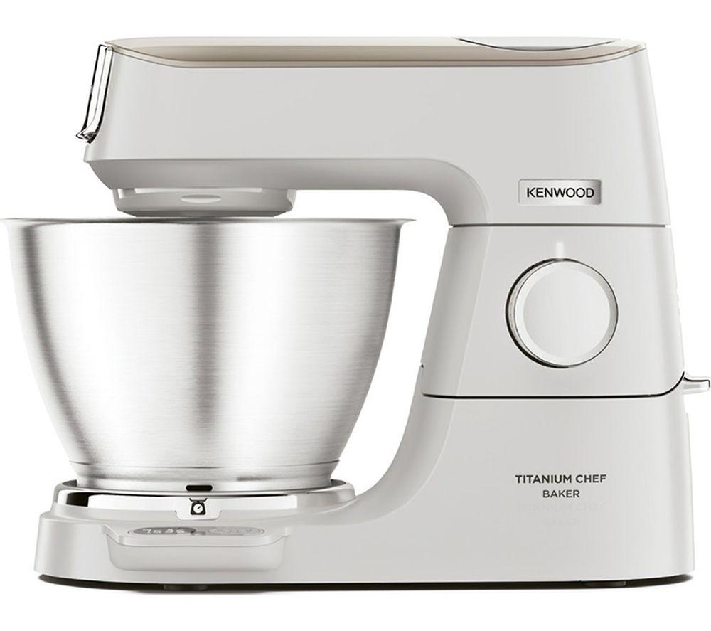 KENWOOD Titanium Chef Baker KVC65.001WH Stand Mixer - White, Titanium