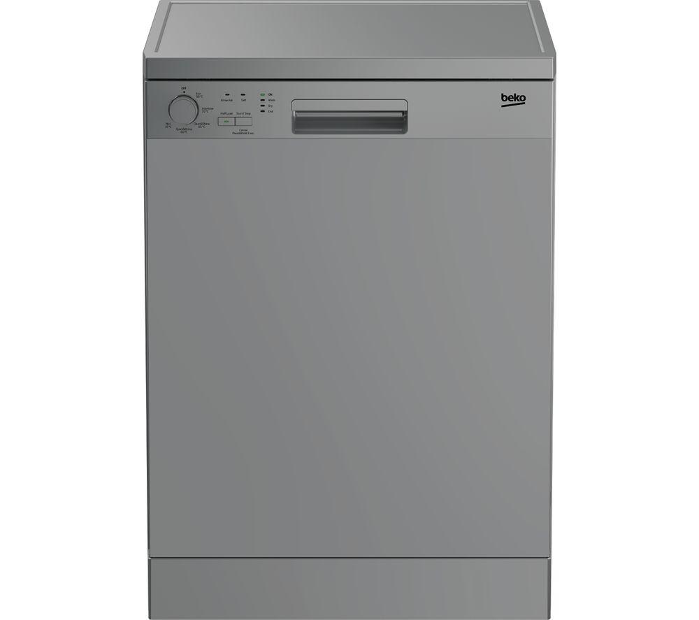 BEKO DFN05320S Full-size Dishwasher - Silver, Silver