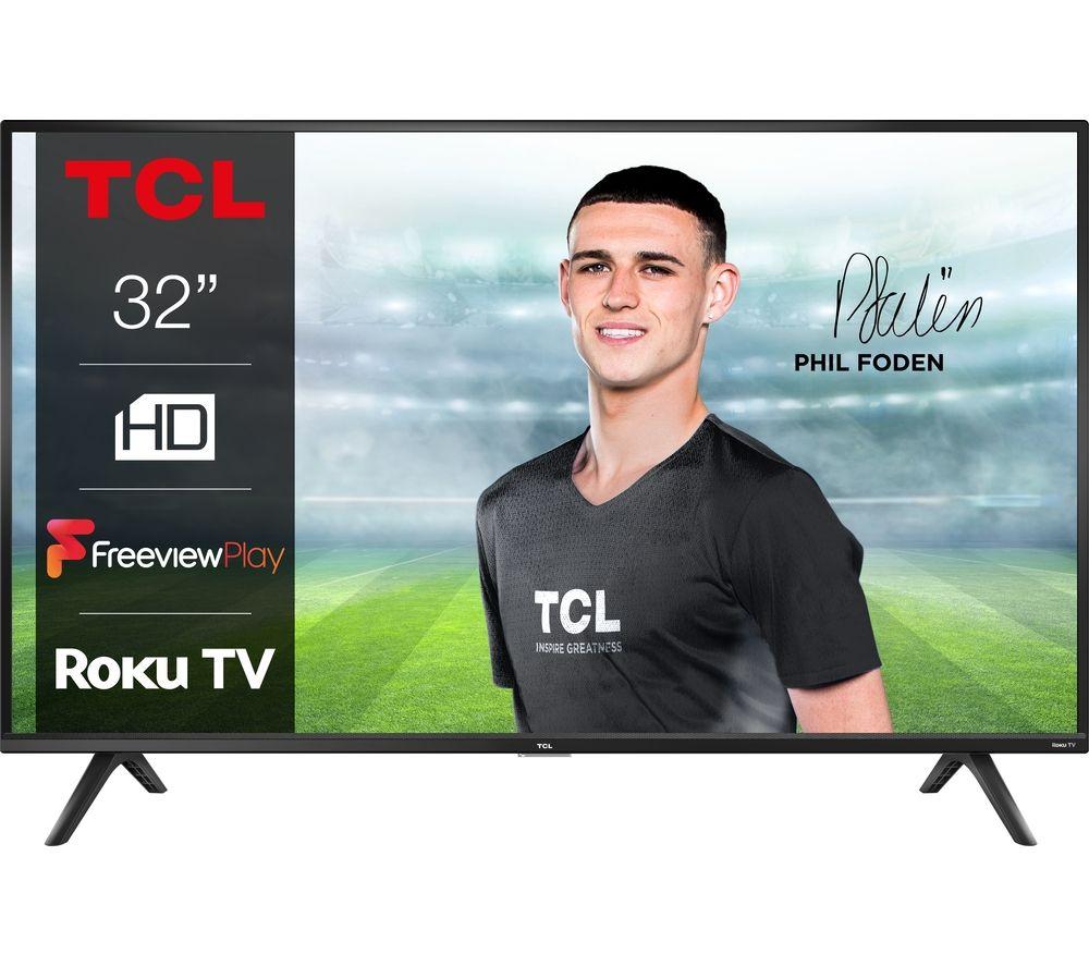 "32"" TCL 32RS520K Roku Smart HD Ready LED TV"
