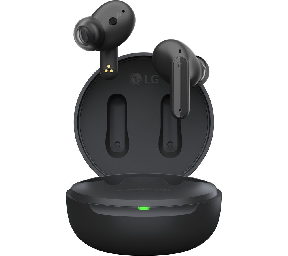 LG TONE Free UFP5 Wireless Bluetooth Noise-Cancelling Earbuds - Black