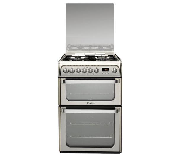 HOTPOINT HUD61X S Dual Fuel Cooker - Stainless Steel (SBUK)