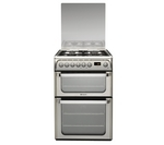 HOTPOINT HUD61X Dual Fuel Cooker - Stainless Steel