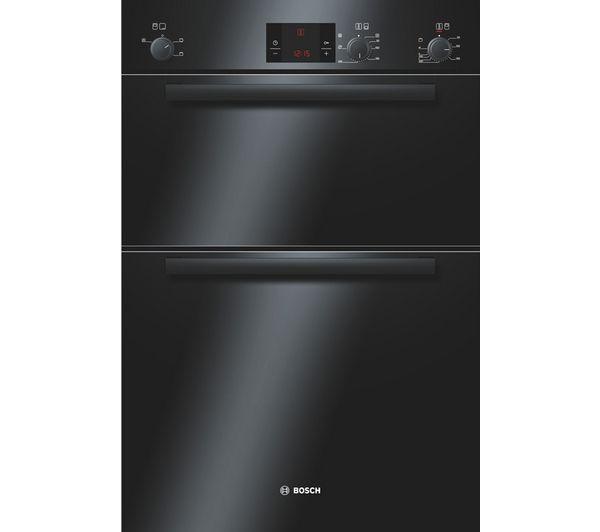 Image of BOSCH Avantixx HBM13B261B Electric Double Oven - Black, Black