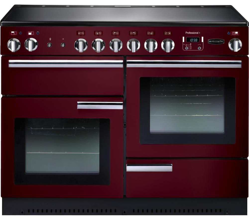 RANGEMASTER Professional+ 110 Electric Range Cooker - Cranberry & Chrome