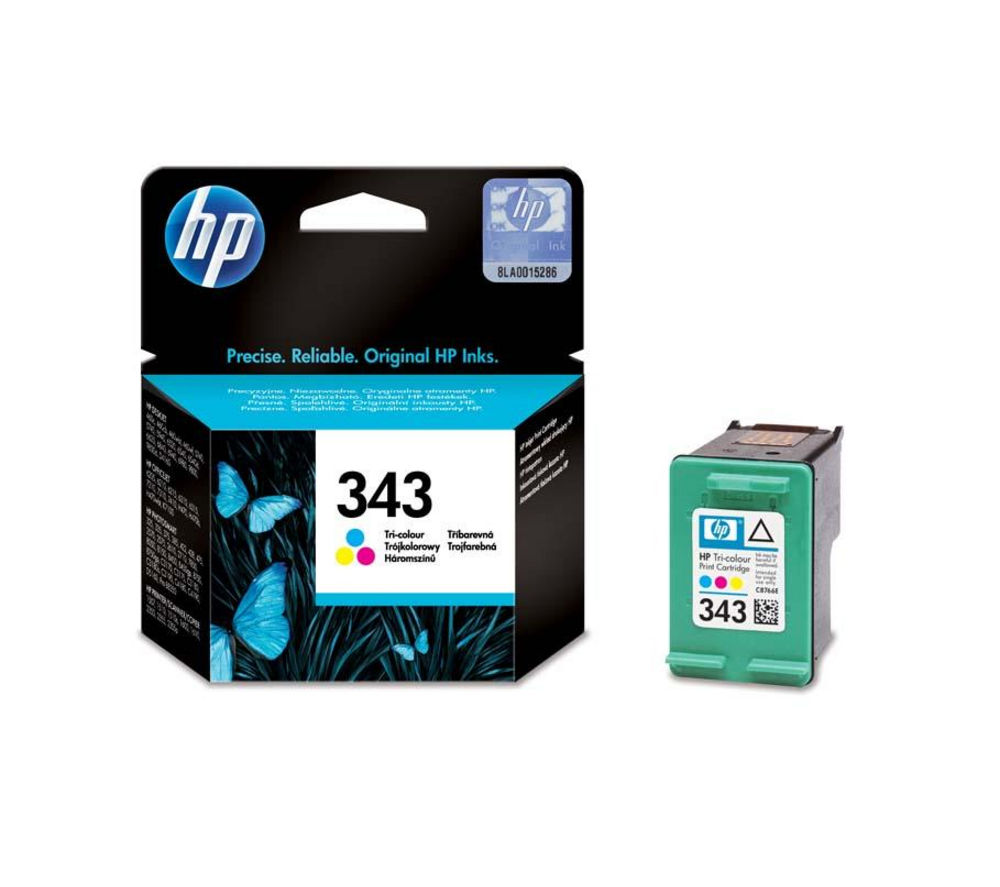 Image of HP 343 Tri-colour Ink Cartridge