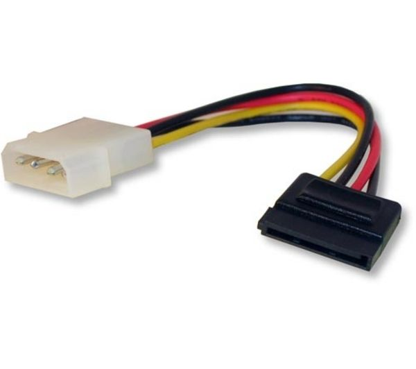 DYNAMODE Molex to SATA Power Cable - 0.10m