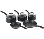 TEFAL E857S544 5-Piece Pan Set - Black