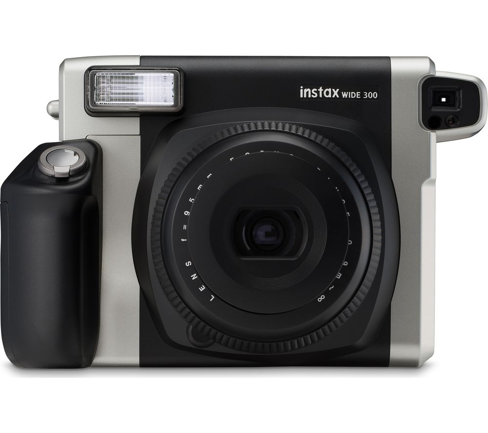 INSTAX WIDE 300 Instant Camera - Black & Silver + Extreme Plus Class 10 SDHC Memory Card - 16 GB, Twin Pack + SWCSC13 Compact System Camera Case - Black