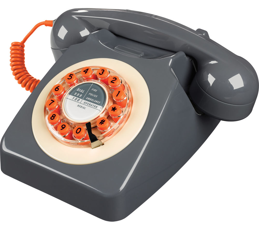 Image of WILD & WOLF 746 Corded Phone - Concrete Grey, Grey