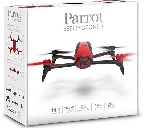 buy parrot bebop 2 drone red free delivery currys. Black Bedroom Furniture Sets. Home Design Ideas