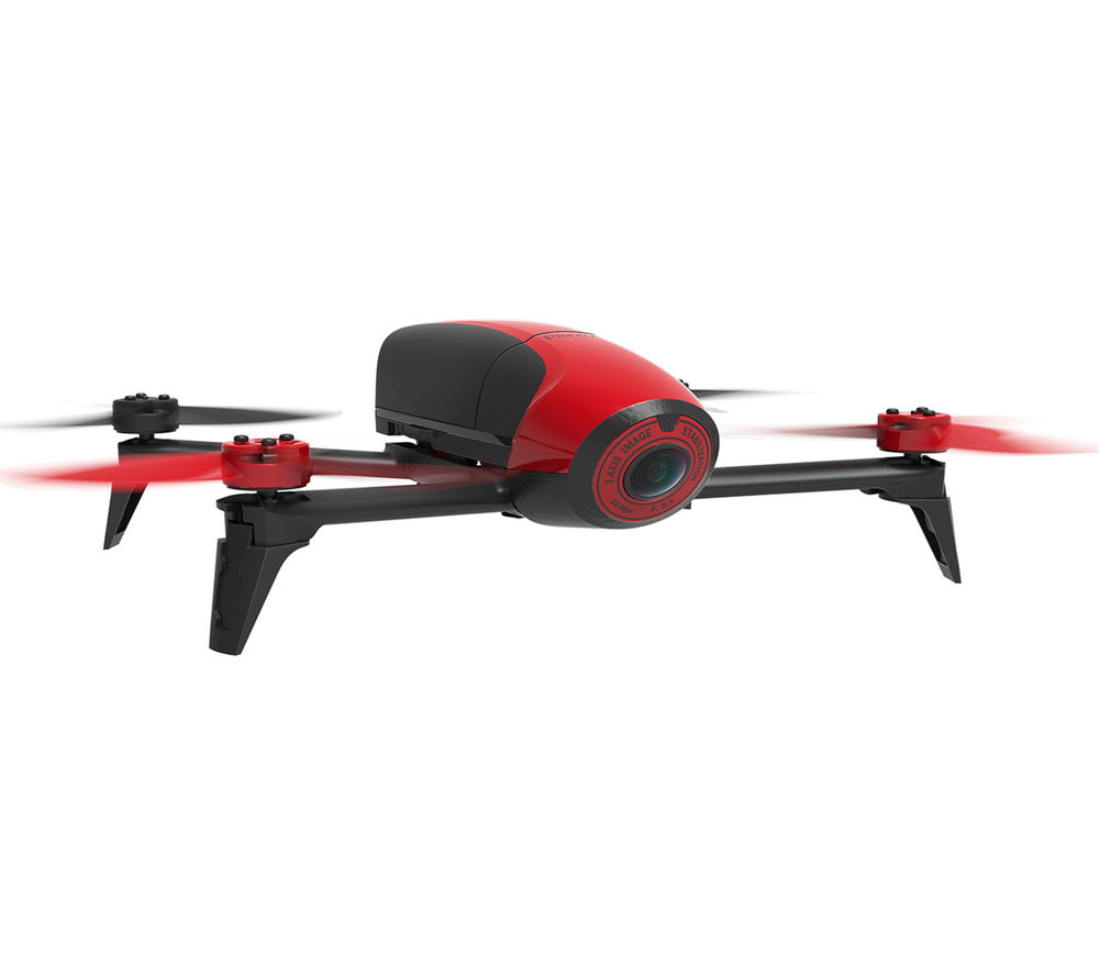 buy parrot bebop 2 drone red free delivery currys