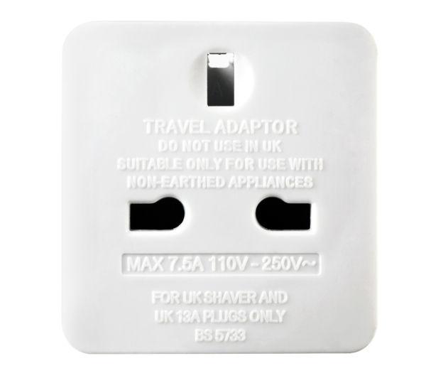 Uk To Thailand Travel Adapter Argos Mac Vga Adapter Cost Usb 3 0 Multi Adapter M 2 Nvme Ssd Pcie X4 Adapter: MASTERPLUG TAUSA-MP UK To US Travel Adapter
