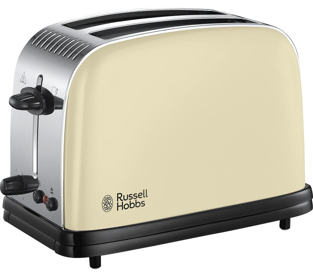 Image of RUSSELL HOBBS Colours Plus 23334 2-Slice Toaster - Cream, Cream