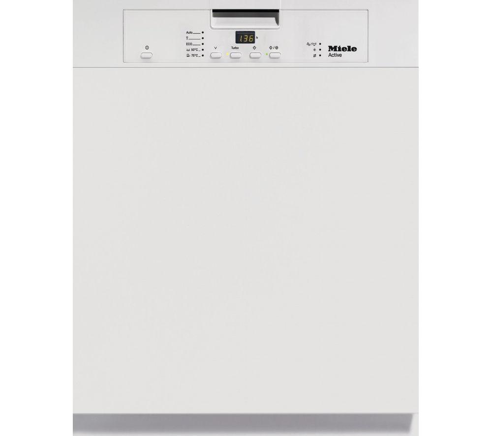 MIELE  G4203i Full-size Semi-integrated Dishwasher – White, White